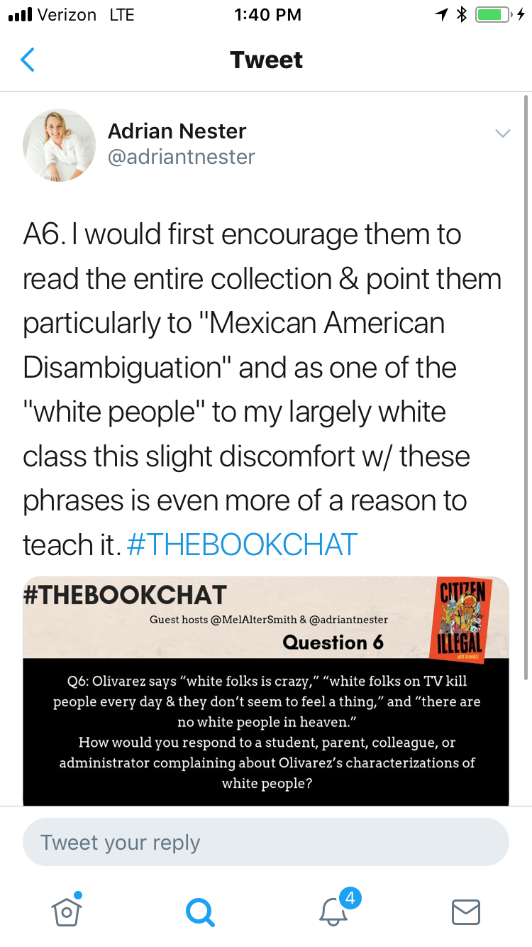 Highlights reel of #THEBOOKCHAT and #TeachLivingPoets chat on José